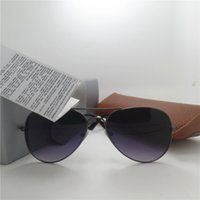 aviator pink - Classic Men Women Sunglasses Band Design Aviator UV Protection Outdoor Sport Adumbral Vintage Pilot Gradient Eyewear With Brown Case Box