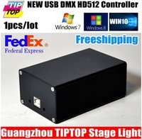 Wholesale Freeshipping DMX512 Stage Lighting Controller HD512 USB Interface Lose Function Dual Power Supply Martin Avolites Software WIN10