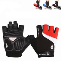 Wholesale Wolfbike Breathable Mountain Road Bicycle Bike Gloves D GEL Anti slip Cycling Gloves ves Anti shock Half Finger Bicycle Gloves