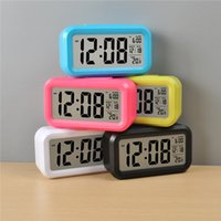 Wholesale New Fashion Led Despertador Blue Backlight Musical Digital Alarm Snooze Electronic Alarm Clock Calendar Control F313