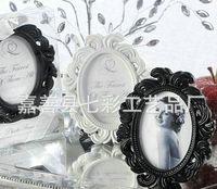 Wholesale Black and White Ellipse Baroque Photo Frame Holder For Wedding Place Card Holder