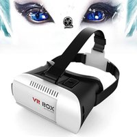 Wholesale Universal Google Cardboard VR BOX Version Virtual Reality D Glasses Game Movie Head Mount D Glass For quot Mobile Phone