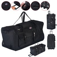 Wholesale 36 quot Rolling Wheeled Tote Duffle Bag Carry On Luggage Travel Suitcase Black New