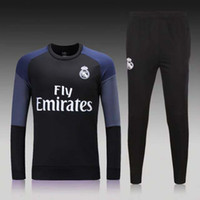 Wholesale Thailand Best quality Real Madrid jersey winter men s long sleeved jacket Slim pants football training suit mixed order