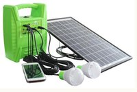 Wholesale 10w Multi functional Portable solar lighting system kit for ourdoor