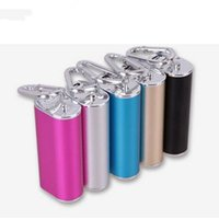 battery backup night light - Portable Power Bank rechargeable Li ion Battery With Night Light and Keychain Function Backup For Mobile Phone iphone Samsung Sony