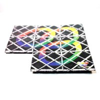 0-12M Plastic Skew Cube Wholesale-Lingao Plastic Black 3 Rings 8 Panels Magic Folding Puzzle Educational Twisty Toy for Little Kid and Professional Puzzlers