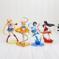 Wholesale Anime Sailor Moon figure Sailor Moon Venus Mercury Mars PVC Action Figure Model Toy approx cm with box