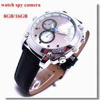Wholesale New Waterproof P Spy Watch Camera gb gb with IR night vision Spy camera Watch Hidden camera mini DVR in retail box dropshipping