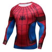 Wholesale New Comic Superhero Compression Shirt Superman Captain America D T Shirt Men Cossfit T Shirt Brand Clothing