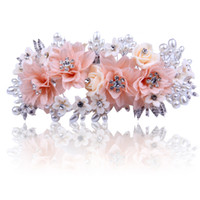 america dishes - Bridal Hair Accessories Married beautiful floral cloth dish made of flowers in Europe and America upscale places pearl headdress hair access