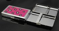 Wholesale CM New Pocket tinplate Cigarette Case Tobacco Case Box Holder Cigar Smoke smoking grinder