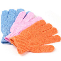 Wholesale 5pcs Bathroom Accessory Bathwater Scrubbing Bath Exfoliating Gloves for Shower gloves cream glove puppets for kids