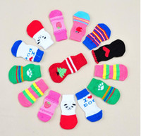 Shoes & Socks Fall/Winter Thanksgiving 2017 40PCS Armi store Pet Dog Sock Fashion Design Wholesale Warm Socks For Dogs Products Latex Skid-proof color sent randomly