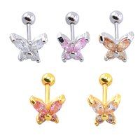 allergic baby - 2 pairs Stainless Yellow Gold Plated Clear Butterfly Zircon CZ Anti Allergic Stud Earrings Jewelry for Children Girls Baby Kids