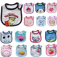Wholesale bibs smocks models Infant saliva towels layer toddler Baby bibs Baby burp cloths kids cotton handkerchief children animal bibs