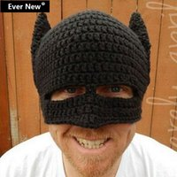 batman hats for sale - So Cool New Batman Winter Hats For Man Beanie Hat Warm Knitting Hat Winter Beanies Elastic gorro toucas inverno Hot Sales