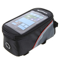 bicycle basket accessories - ROSWHEEL Inch Bicycle Basket Bag Mountain Bike Frame Front Tube Phone Touch Cycling Bag Panniers Para Bicicleta Accessories