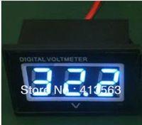 Оптово-1PCS новый синий DC 3.0-30V Цифровой вольтметр Водонепроницаемый пылезащитный противоударный метр панели для электрического двигателя автомобиля # 00015
