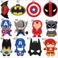 baggage tags - 54 designs Cartoon Luggage ID Tags Labels Spider Man Avengers Mario Minions baggage tag hang tag Keychain Key Ring OOA551