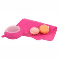 baking sheet set - New JJMG French Macaroon Baking Set Tube Silicone Piping Pot Kit Nozzle Tips Decorating Tool with round Cookies Pink Sheet