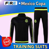 football training - 2016 Copa Mexico training suit survetement chandal football clothes with long sleeve tight pants tracksuits Maillot de foot Uniforms shirts