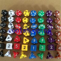 Wholesale 7pcs Set Multi Sides Dice Pop for Game Gaming