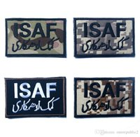 army security - 50 ISAF International Security Assistance Force Military Patch Morale Patch Hook Loop D Embroidery Army Badge free ship