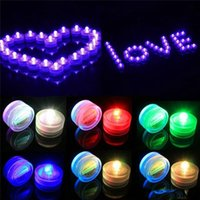 Wholesale LED Submersible Waterproof Tea Lights battery power Decoration Candle Wedding Party Christmas High Quality decoration light