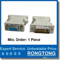 Cheap DVI 24 5 DVI-I Male 24+5 Pin to VGA Female Video Converter Adapter M F LCD HDTV Computer Connectors