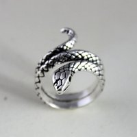 animal online store - 925 Sterling Silver Rings for Women Mens Animal Snake Opening Adjustable Ring Jewellery Online Stores R3