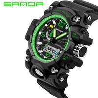 al por mayor g estilo de los hombres-Relojes para hombre 2016 SANDA Relojes de Moda Hombre G Style Impermeable Deportes Militar Relojes Shock Lujo Analógico Digital Relojes deportivos
