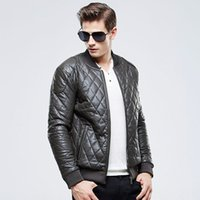 Wholesale 2016 Men s Autumn Winter Coats PU Leather Jacket Thick Warm Overcoat Waterproof Leather Suede Brand Clothing New Arrival xl XL