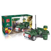 arm jeep - City Military Arms Tank Jeep Minifigures Model Brick Toy Building Blocks Assembly Bricks military toys for Children