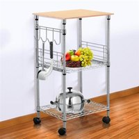 Wholesale Kitchen Cart Utility Food Service Microwave Stand Chrome Tier Wire Rolling