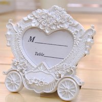 Wholesale Luxury Creative Europe White Weddings Carriage Photo Frame Resin Picture Frame For Photo Home Accessories Gift