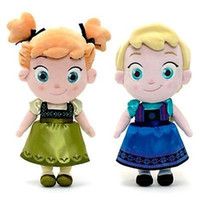Wholesale Frozen CM Plush Q Version Princess Elsa Anna Cute Baby Girls Dolls Toy Childhood Q Plush Princess Toys Kids Christmas New Year Gift