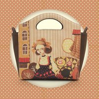 bag illustration - NIU ISOS original design vintage illustration printing handbag shoulder bag tote trapeze bag