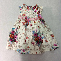 Wholesale Baby Girls Dresses Children Princess Child Flower Dress With Printed The Little Baby Girls Clothing Girls Outside Dresses Baby