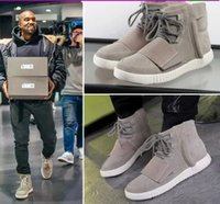 Cheap Original Kanye West Adidas Yeezy Boost 750 High Top Running Shoes For Women Man Yeezys Cheap Sneakers Black Grey Size 36-46 Free Shipping