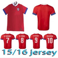 Wholesale CHILE copa america centenario soccer jersey CHILE HOME KITS TOP QUALITY CHILEAN SOCCER SHIRTS