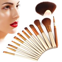 Wholesale Hot Sales Pro Makeup Brushes Set Synthetic Hair Powder Foundation Eyeshadow Lip Eyeliner Angled Contour Brush Tool T251