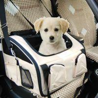 Wholesale Hot Sale Travel Portable Foldable Pet Carrier Storage Bag Waterproof Safety Front Back Car Seat Pad Hammock Basket HB0047 salebags