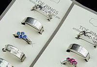 Wholesale Mix Style Austria Rhinestones Fashion Women Toe Rings Jewelry