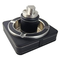 Wholesale Package mail gold plated ashtray leather ashtrays household hotel supplies senior gifts
