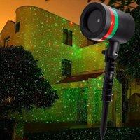 Wholesale Outdoor IP44 LED stage laser light AC110V V lawn Christmas light flashing gradient red green EU US plug