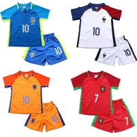 Spring / Autumn baby clothing football - European Cup football clothes children two piece France Netherlands Spain Germany casual short sleeved ball new baby sport