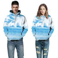 Wholesale 2016 autumn and winter explosion couples dress with cap body sweater D sky digital printing universe series sweater coat