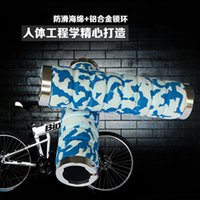 Wholesale 5colors choices skid sweat damping soft cozy Bike MTB Ultralight Sponge Lock on Grips Handlebar Soft Comfortable End Plugs