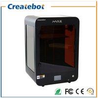 Acheter Double filament-Nouvelle imprimante 3D Taille de grande taille Imprimante Createbot MAX 3D avec double extrudeuse, écran tactile et support thermique Divers filaments